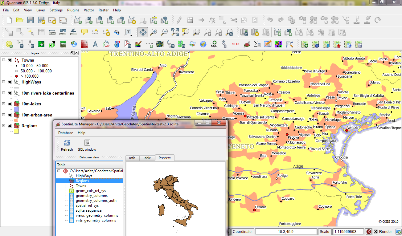 QGIS SpatiaLite Manager | Free...