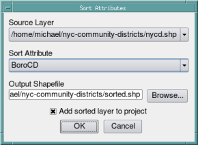 How to Sort a Shapefile by Attributes | Free and Open Source
