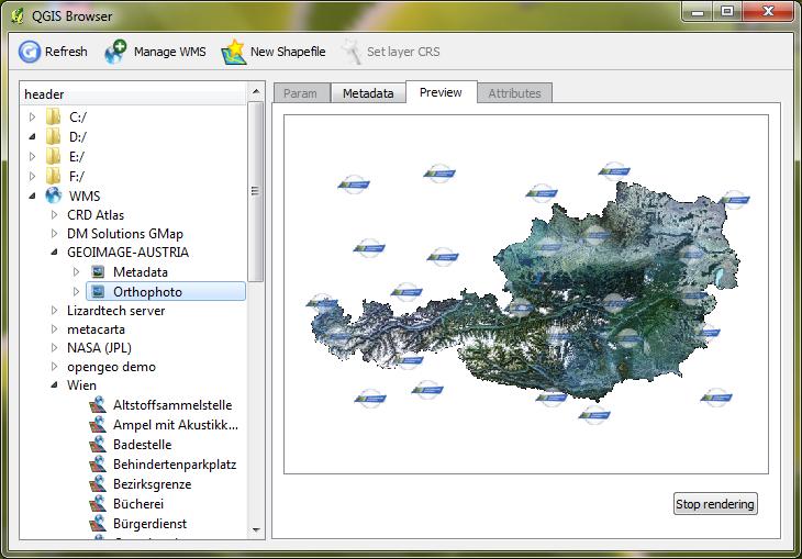 QGIS Browser