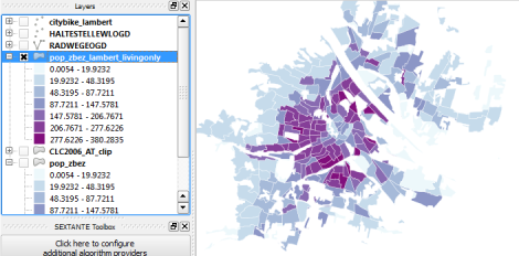 for easier comparison i put the original density and the dasymetric map into a looping animation some subdistricts change their population density values