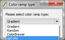 "Chose the ""cpt-city"" color ramp type."