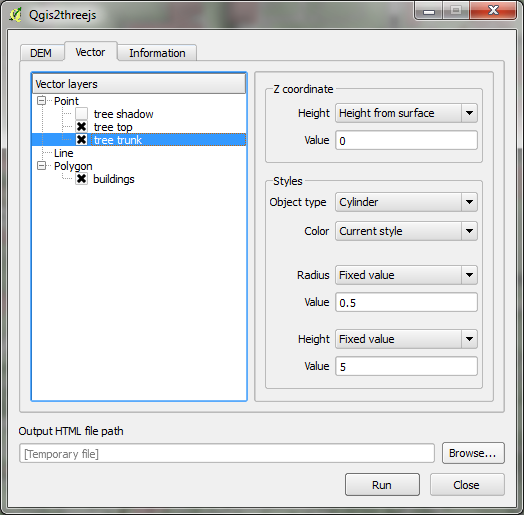 3D viz with QGIS & three js | Free and Open Source GIS Ramblings