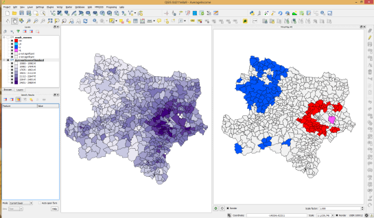 Municipality border data (c) OpenStreetMap and contributors Income data source: Statistik Austria via derStandard