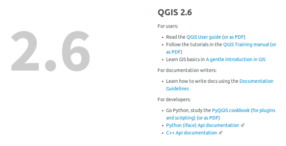 QGIS 2 6 user guide released | Free and Open Source GIS