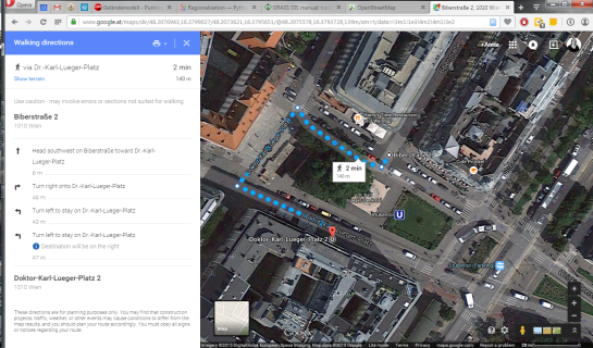 Pedestrian routing in Google Maps