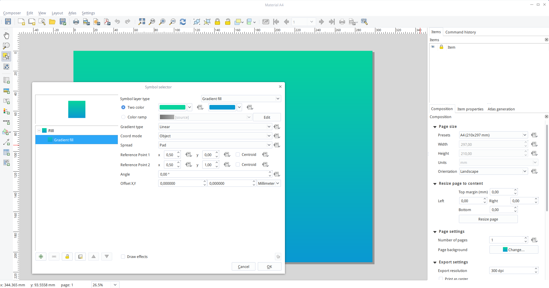 Material design map tutorial for QGIS Composer | Free and