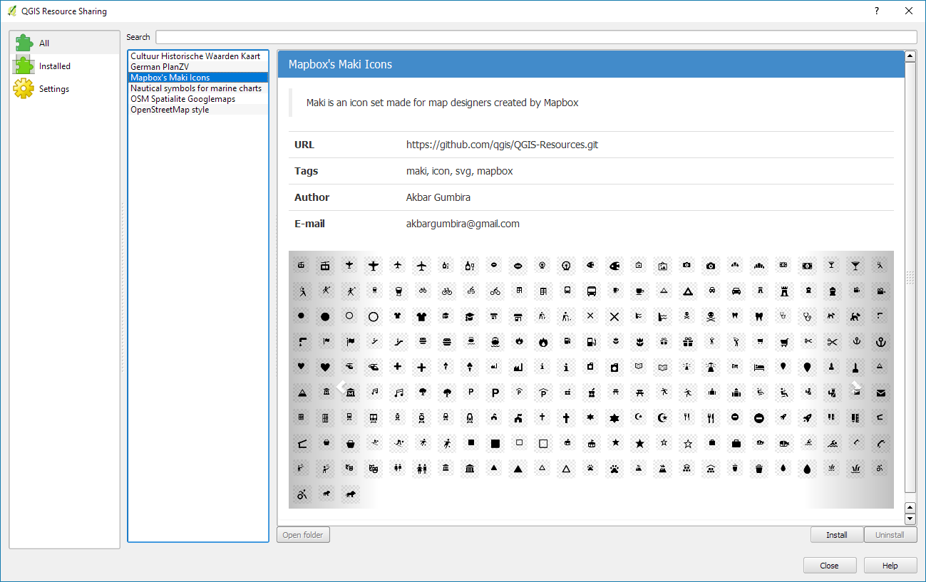 More Icons Symbols For Qgis Free And Open Source Gis Ramblings