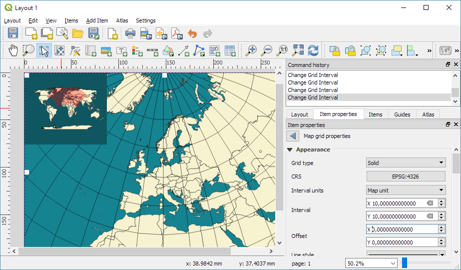 Qgis plugins planet of course crs control is not limited to maps we also have full freedom to add map grids in yet another crs gumiabroncs Image collections