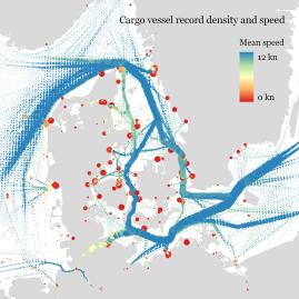 Cargo ship prototypes around Denmark